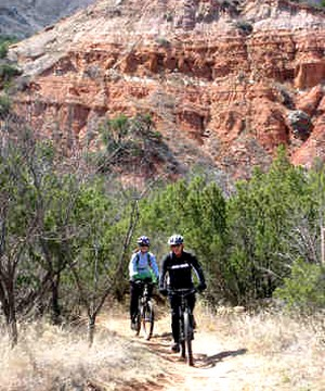 Biking at Palo Duro Canyon State Park