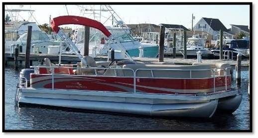 Pontoon boat rental on Lake Sam Rayburn