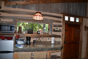 Grindewald Swiss log cabin kitchen