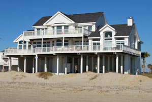 Beautiful Vacation Rental Home On The Beach In Galveston Galveston Beach  Front Rental