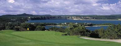 One of the holes overlooking Possum Kingdom Lake at the Cliffs Golf Course