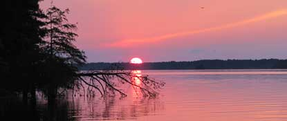 Sunset at Toledo Bend Lake