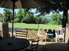Veranda dining at Cypress Bend Resort