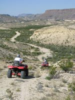 Lajitas ATV ride down the hills