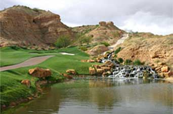 One of the golf holes at Lajitas Resort & Spa