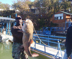 One big fish caught at North Side Marina on Lake Bridgeport