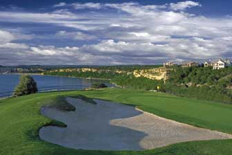 The Cliffs Resort hole number 8 overlooking Possum Kingdom Lake