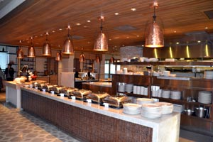 The breakfast buffet at La Cantera Resort