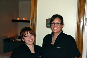 The staff at the Spa