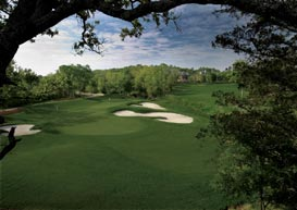 golf hole at Traditions golf community