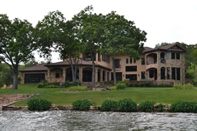 The homes on Lake Austin are unbelievable