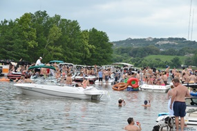 Party Cove on Lake Austin