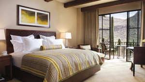 Guest room at the The Ritz-Carlton Dove Mountain