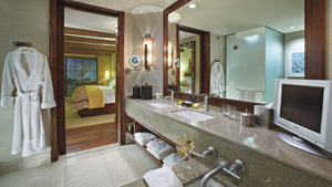 Guest room bathroom at The Ritz-Carlton Dove Mountain
