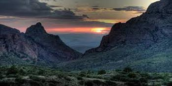 Chisos Mountains in Big Bend