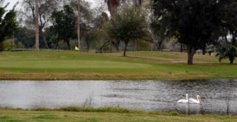 One of the golf holes at Shary Municipal Golf Course