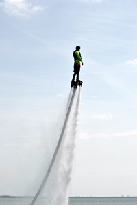 Flyboarding with NTX Flyboard at Lake Lewisville