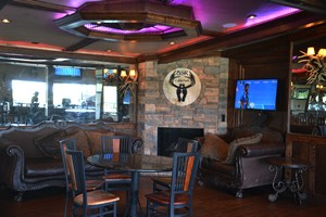 Part of the bar and grill at BSR