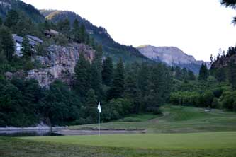 Cliffs Nine golf hole at the Glacier Club