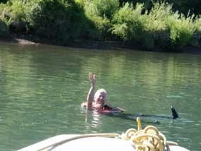 Floating down the Animas River