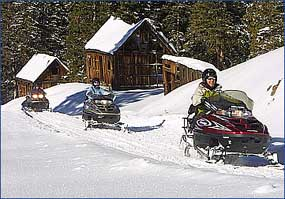 touring by snowmobile in Telluride