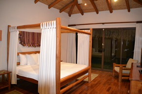 One of the villa bedrooms