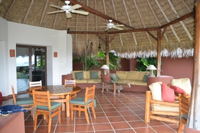 The covered patio