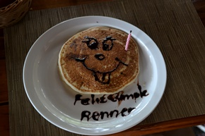 Birthday Pancake for our Granddaughter