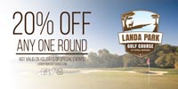 Landa Park Golf Course  Discount Coupon