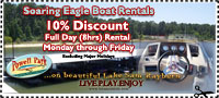 Lake Sam Rayburn boat rental coupon
