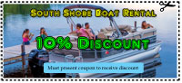 Clear Lake pontoon boat rental coupon