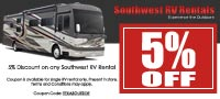 Southwest RV Rentals Coupon