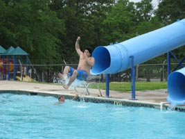 The Pool And Slide At Castaways RV Park