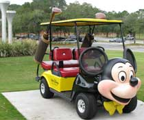 Mickey Mouse Golf Cart At Ospry Golf Course
