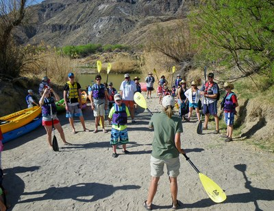 Kayaking Lesson at Big Bend Ranch State Park