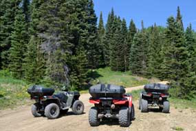 ATVs were new, clean, and fast
