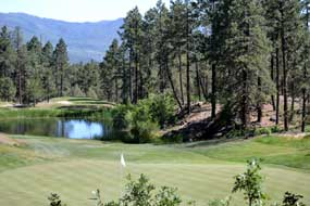 One of the holes on the Glacier nine at Glacier Club