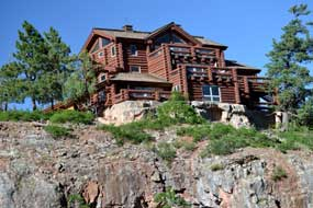 Home on a cliff at the Glacier Club