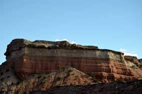 look at the various colors  in New Mexico mountains