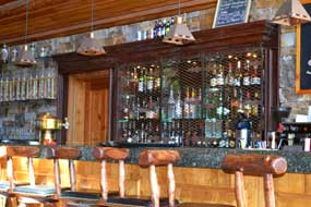 The bar at Mountain Lodge at Telluride