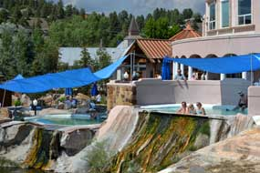 Some of the springs at the resort in Pagosa Springs