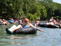 Guadalupe River tubers