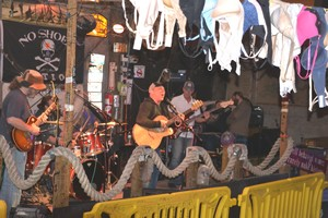 Bras and band at Flora Bama