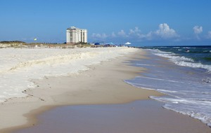 Miles of white sandy beaches in Orange Beach
