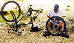 Male sure you Don't get stuck in the woods - bring a bike repair kit with you.