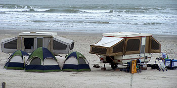 Beach Camping in Port Aransas