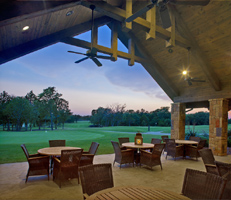 Patio at the Rock Creek Clubhouse