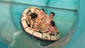 waterpark ride at Great Wolf Lodge