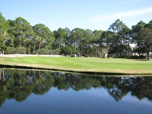 Hombre Golf Course - lots of water to content with