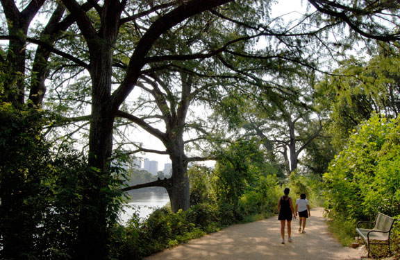 Trails around Lady Bird Lake